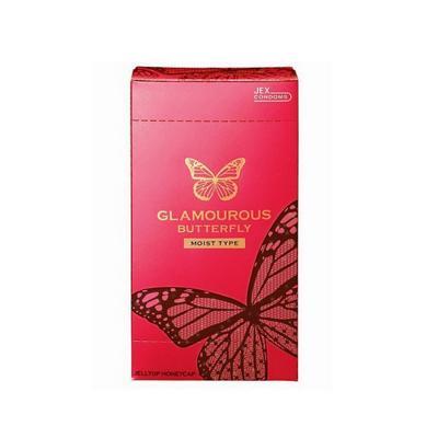 Bao cao su Jex Glamcurous Butterfly moist 1000-hộp 12c