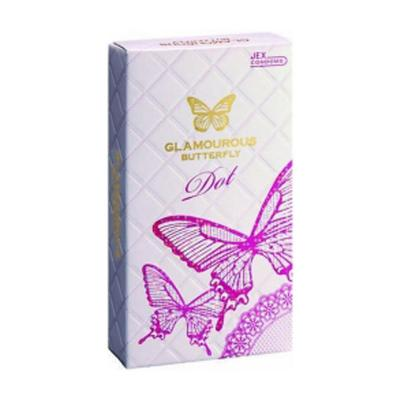 Hộp bao cao su Glamcurous Butterfly Dot 8 chiếc