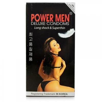 Hộp Bao cao su Power Men Long Shock and Super Thin